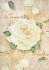 Roses Happy Birthday Cards, Box of 12