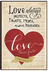 Love Always Protects Wall Art