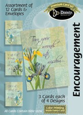Iris Encouragement Cards, Box of 12