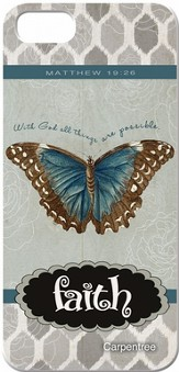 Faith, Butterfly, iPhone 4/4S Case