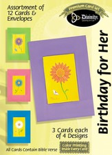 Daisies Birthday for Her Cards, Box of 12