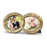 Joined in Love, Double Wedding Rings Photo Frame