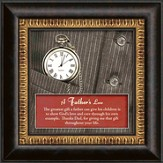 A Father's Love Framed Art, with Clock