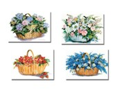 Flower Basket Thank You Cards, Box of 12