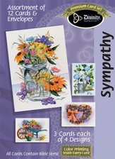 Flowers and Objects Sympathy Cards, Box of 12