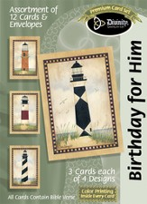 Lighthouse Birthday for Him Cards, Box of 12