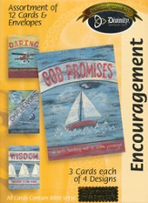 Sailboats and Plan Encouragement Cards, Box of 12