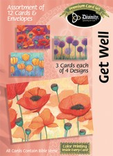 Watercolor Flowers Get Well Cards, Box of 12