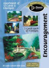 Painted Paths Encouragement Cards, Box of 12