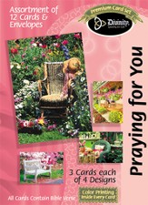 Garden Chairs Praying for You Cards, Box of 12
