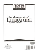 BJU Fundamentals of Literature Grade 9 Tests