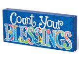 Count Your Blessings, Colorful Wood Plaque