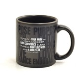 Purpose, Faith, Patience, Love, Endurance Mug