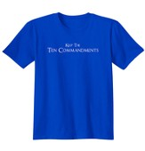 Ten Commandments, Shirt, Royal, 3X-Large