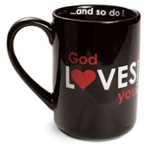 God Loves You Mug, Black