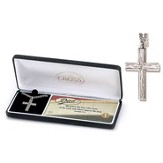 Dad Pewter Cross Necklace