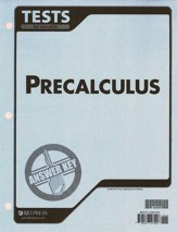 BJU Math 12: Pre-Calculus, Tests Answer Key