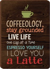 Coffeeology Magnet, Black