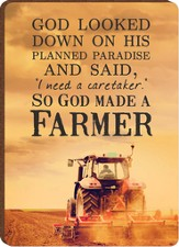 God Made A Farmer Magnet, Tractor