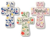 Set of Three Ceramic Crosses