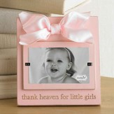 Thank Heaven For Little Girls Photo Frame, Pink
