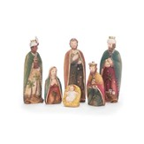 Holy Family with Three Kings, Palm Tree Design, 6 Piece Set