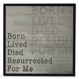 Born For Me Wood Box Sign