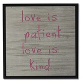 Love Is Patient Wood Box Print