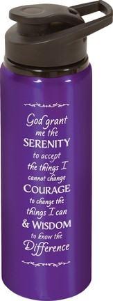 Serenity Prayer Water bottle, Purple