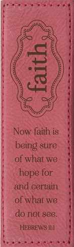Faith Is Being Sure Bookmark, Pink