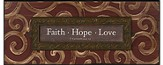 Faith, Hope, Love Plaque, I Corinthians 13