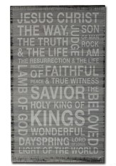Names Of Christ Wood Box Print