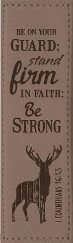 Be On Your Guard, Stand Firm Bookmark, Brown