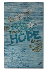 Faith, Hope, Love Wood Box Print