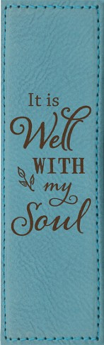 It Is Well With My Soul Bookmark, Teal