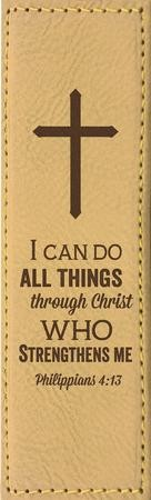 I Can Do All Things Through Christ Bookmark, Yellow