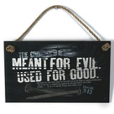Used For Good Wood Sign with Rope Hanger