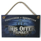 This Offer Expires Wood Sign with Rope Hanger