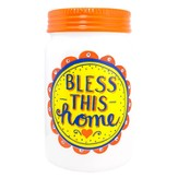 Bless This Home Jar Vase