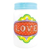 Love Ceramic Jar Vase
