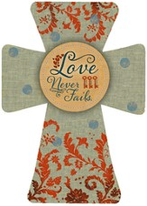 Love Never Fails Wall Cross