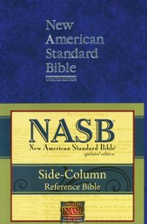 NASB Update Side-Column Reference, Large Print, Blue