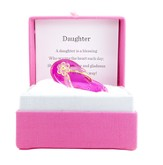 Daughter, Pink Flip Flop In Silk Gift Box