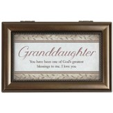 Granddaughter, You Will Always Be One Of God's Greatest Blessings Music Box