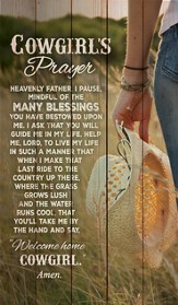 Cowgirl's Prayer Wall Art