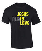 Jesus Is Love Shirt, Black, Small