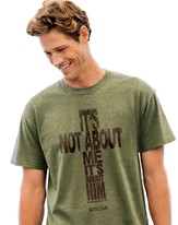 It's Not About Me, It's About Him Shirt, Green, Small
