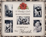A Family Is God's Masterpiece, Collage Photo Frame