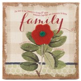 The Love In Our Family Is Strong Burlap Art