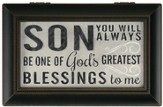 Son, You Will Always Be One Of God's Greatest Blessings Music Box